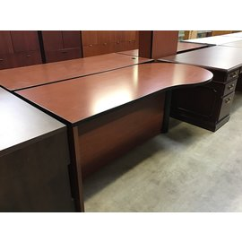"36x72x30"" P-Shaped desk - no drawers (10/21/2020)"