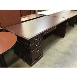 """36x72x29"""" Dk Cherry L/ped desk (10/21/2020)"""