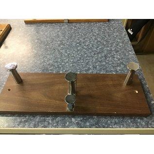 Dk Brown wall mt wood coat hanger (11/3/20)