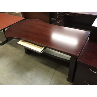 "42x72x29"" Cherry wood conference end desk (11/5/2020)"