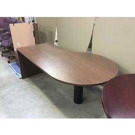 """42x72x29"""" Wood P-Shaped desk w/L/return (11/5/2020)"""