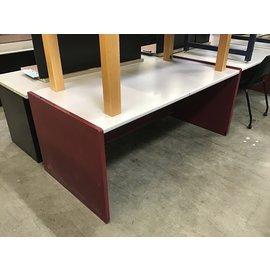 "35x70x29 1/2"" Maroon metal work table (11/5/2020)"