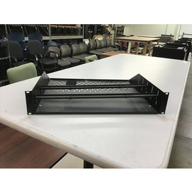 "3 1/2"" Black metal rack mt shelf (11/5/2020)"