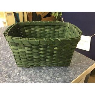 """8x11"""" Green wicker basket (11/10/20)"""