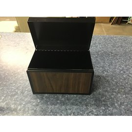 """5x8 1/2"""" wood grained metal file card holder (11/11/20)"""