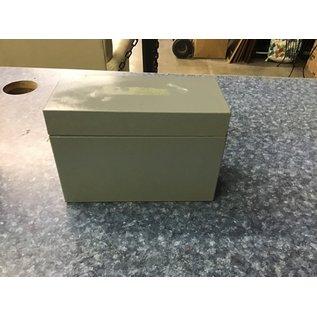 "4x8 1/2"" gray metal file card holder (11/11/20)"