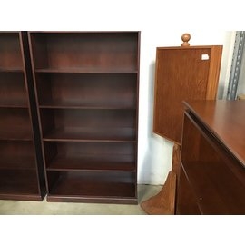"16x37x69"" Cherry 5 shelf bookcase (11/12/20)"