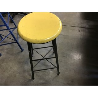 """Yellow wooden top 29"""" stool (11/18/20)"""