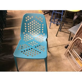 Turquoise  metal patio chairs (1/14/21)