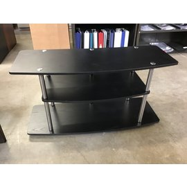 "16x42x22"" Black 3 shelf table (1/20/21)"