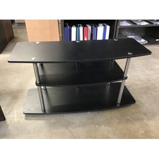 "16x42x22"" Black 3 shelf table (1/20/21)"