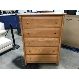 "17 1/2x 38""x52Lt. Oaf 5 drawer dresser (1/20/21)"