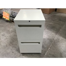 "20x15x16 1/2"" Beige 2 drawer metal file cabinets (1/21/21)"