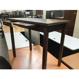 """18x32""""x27"""" Drk. Brown wood table (1/21/21)"""
