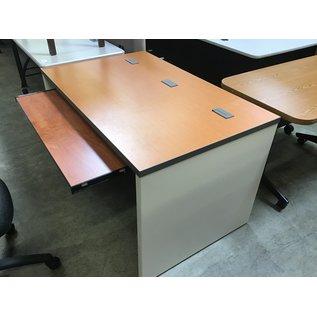"""30x48x29"""" Table,  oak wood top, w/ slide out shelf (1/21/21)"""