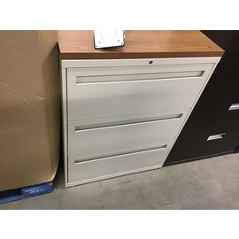 18x36x45 3 drawer beige wood top lat file 1/29/21