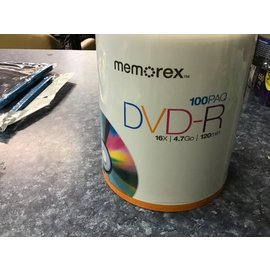 Memories DVD-R disks 100disks (2/3/21)