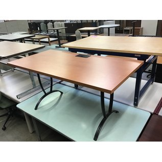 """30x60x28 1/2"""" Wood top work table w/power outlet (3/4/21)"""