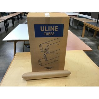 "Uline 3""x18"" Snap end mailing tubes 25/case (3/30/21)"