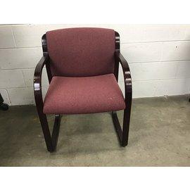 Maroon cloth wood chair (4/1/2021)