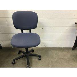 Blue cloth desk chair on castors  (4/1/2021)