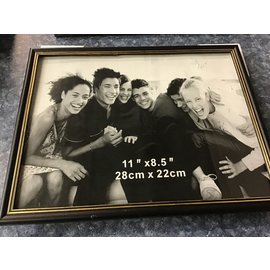 "11.5""x8.5"" Black plastic picture frame (4/7/21)"