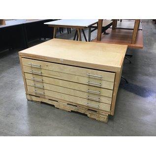 "34x48x23 1/2"" Wood 5 drawer map/blue print case (4/7/2021)"