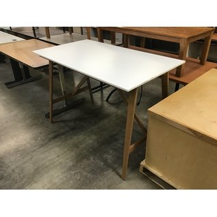 """30 3/4x55x37 3/4"""" White wood top/frame drawing table (4/7/2021)"""