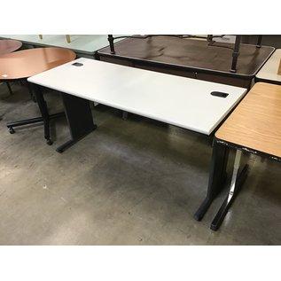 "24x60x30"" Gray top metal frame computer table (4/7/2021)"