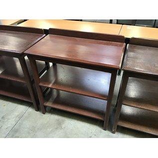 "19 3/4x36x36 1/2"" Wood server stand (4/7/2021)"