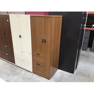 "24x24x67"" Wood 2door/2 drawer storage cabinet (4/7/2021)"