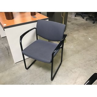 Gray padded metal frame side chair (4/7/2021)