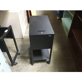 "24 1/2x13 1/2x28"" Black. Teal top load file cart (4/13/2021)"