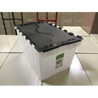 Plastic 12gal flip lid tote (4/13/2021)