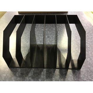 Black plastic 6 slot file divider (4/20/21)