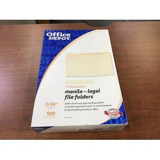 Office Depot Legal size 3-tab Manila file folders (4/20/21)