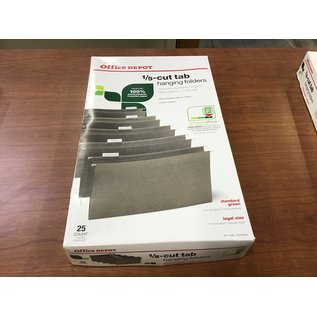 Office Depot legal 1/5-cut tab hanging file folders (4/20/21)