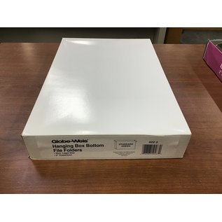 "Globe-Weis legal 2"" box bottom hanging file folders (4/20/21)"
