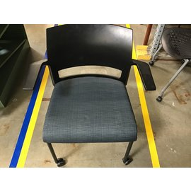 Gray/ green pattern side chair (4/21/21)