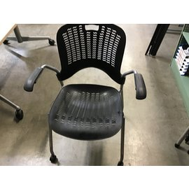 Black plastic mesh side chair (4/21/21)