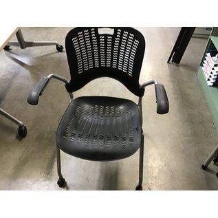 Black plastic mesh side chair (4/21/21)