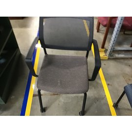 Brown side chair mesh back (4/21/21)