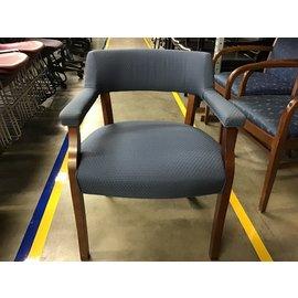 Blue pattern wood side chair (4/21/21)