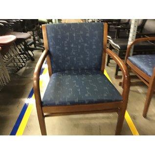 Dark blue pattern wood side chair (4/21/21)