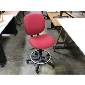 Red counter height desk chair (4/22/2021)