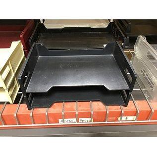 Black plastic 2 Tier paper tray (4/22/2021)