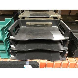Black plastic 3 tier paper tray (4/22/2021)