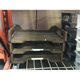 Brown plastic 3 tier paper tray (4/22/2021)