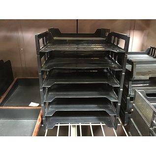 Black plastic 6 tier paper tray (4/22/2021)