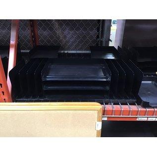 Black metal 8 slot 3 tier file/paper organizer (4/22/2021)